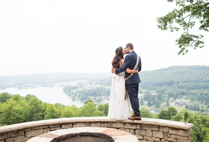 deep creek lake summer wedding