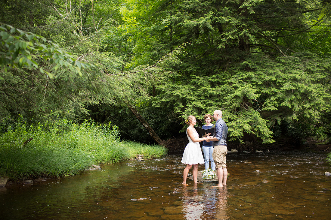 Not Only Were They Doing Things A Little Diffely By Their Wedding On Own Also Hiked To Find The Perfect Ceremony Spot In Stream